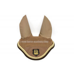 Bonnet anti mouches cheval beige